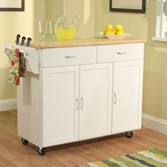 You'll love the Berkley Kitchen Island with Wood Top at Wayfair - Great Deals on all Furniture  products with Free Shipping on most stuff, even the big stuff.