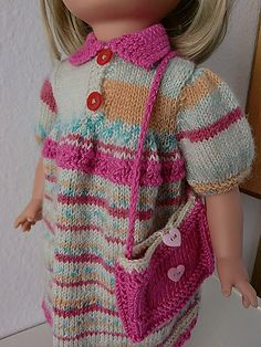 Ravelry: Doll Clothes for Anne pattern by Målfrid Gausel American Doll Clothes, Girl Doll Clothes, Ag Dolls, Girl Dolls, Ag Clothing, Barbie Patterns, Knitted Dolls, American Girl, Knit Crochet