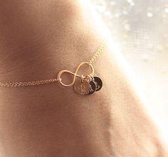 Gold Infinity Bracelet Dainty Everyday Bracelet by BijouxbyMeg