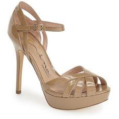 "Nina Originals 'Senora' Ankle Strap Sandal, 4 1/2"" heel"