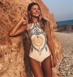 🐣. Offer Xtras! Melode - Printed Swimsuit for $43.90 One Piece Bikini, Women's One Piece Swimsuits, Women Swimsuits, Bikini Set, Bikini Swimsuit, Monokini Swimsuits, Shark Bathing Suits, Retro Bathing Suits, Estilo Retro