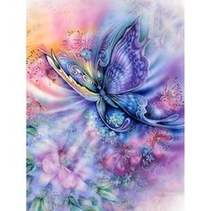 Fairylove 30/×40 Diamond Painting Diamond Dotz Butterfly Bead Painting Kit Diamond Art Kits for Adults,Dazzle Purple Butterfly