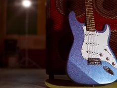 Blue Glitter Guitar