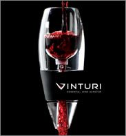 The Vinturi wine aerator, a must-have item for wine lovers that allows wine to breathe without decanting it