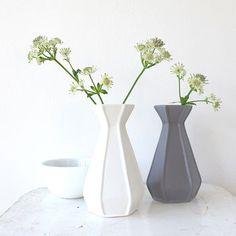 Small Matt Glaze Geometric Ceramic Vase