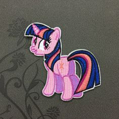 Cartoon patch Twilight Sparkle - My Little Pony Patch Iron on Patch embroidered patches Sew on patches
