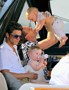 Neil Patrick Harris and David Burtka stole some sweet moments with their two-month-old twins when they vacationed in St. Tropez on the French Riviera.