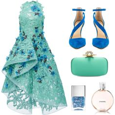 A fashion look from March 2016 featuring Costarellos gowns, Jessica Simpson pumps and Oscar de la Renta clutches. Browse and shop related looks.