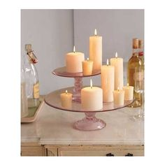 cake stand twist...light up  candles