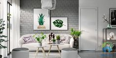 Grey and white interior design inspiration from green living room colour scheme ideas . Green Interior Design, Scandinavian Interior Design, Interior Design Inspiration, Design Ideas, Design Trends, Travel Inspiration, Ikea Living Room, Living Room Green, Living Rooms