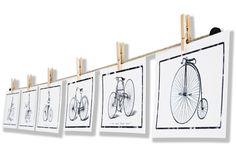 Fotoseil bestehend aus einer Hanfschnur und rustikalen Holzklammern