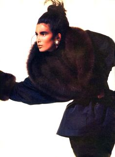 Yves Saint Laurent in Vogue US October 1985 (photography: Irving Penn)♛ ♛~✿Ophelia Ryan ✿~♛
