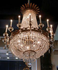 French Regency Style Six Light Bronze Crystal Chandelier & File:Chandelier at Chatsworth House.jpg | Lustres e Iluminação ... azcodes.com