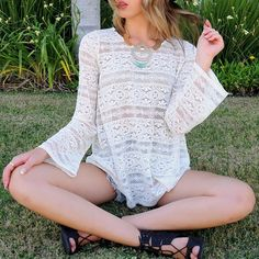 "Spotted while shopping on Poshmark: ""California Boho Chic Crochet Top""! #poshmark #fashion #shopping #style #Tops"