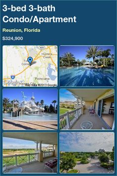 3-bed 3-bath Condo/Apartment in Reunion, Florida ►$324,900 #PropertyForSale #RealEstate #Florida http://florida-magic.com/properties/4452-condo-apartment-for-sale-in-reunion-florida-with-3-bedroom-3-bathroom