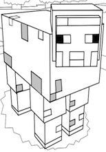 minecraft baby pig coloring pages | printable Roblox Minecraft Monster coloring page ...