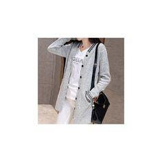 Knit Baseball Jacket ($22) ❤ liked on Polyvore featuring outerwear, jackets, women, grey jacket, gray jacket and knit jacket
