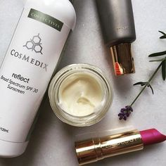 """Head on over to @jolenehart as she shares one of her favorite""""Fuss-Free"""" SPF's- #cosmedix Reflect!"""