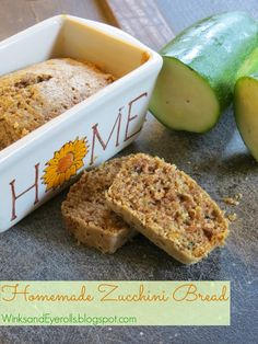 Homemade Zucchini Bread, fall baking