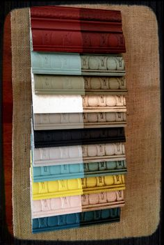 Annie Sloan chalk paint sample boards. The Pickled Cottage.