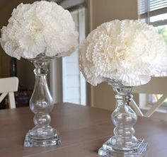 topiaries out of styrofoam balls and cupcake liners!