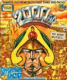 2000AD cover Prog 202 March 1981 - Strontium Dog