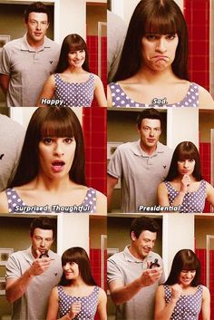 Rachel Berry Faces. This is my favorite part ❤️