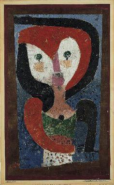 Paul Klee ~ Maid of Saxony, 1922