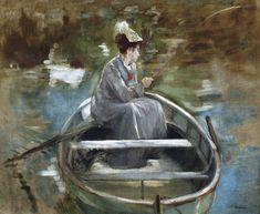 In The Boat (c. 1875-76) - Eva Gonzalès