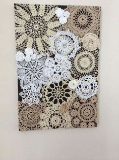 cool way to display my heirloom doilies