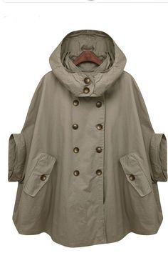 Removable Hood Coat FM024 by FM908 - So perf for dropping the kid off at school on a rainy morning.