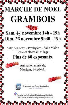 Marché de Noël à Grambois   Com. à La Gal'rie