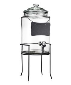 Black Del Sol 1.5-Gal. Beverage Dispenser & Rack