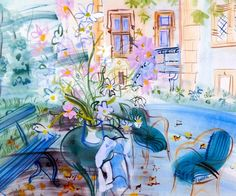 Our House at Montsaunes -  Raoul Dufy 1943  Watercolour