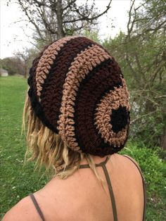https://www.etsy.com/shop/TheMoonFaes?ref=search_shop_redirect Simple slouchy dreadlocks beanie hat earthy earth tones toned crochet hat dreads hippie hippy fashion style l