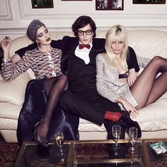 f06c83bdb9 Mariano Vivanco captures The Muses of YSL for the April  14 issue of  Russian Vogue