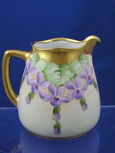 Hermann Ohme Silesia Pickard Studios Niedersalzbrunn, Silesia  (Germany)  —  Violets Design Creamer,   c.1910-1912  (960x1280)