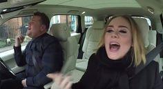 La británica canta, bromea y se confiesa sobre cuatro ruedas en el programa estadounidense de James Corden.