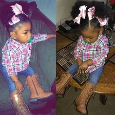 This little beauty! Cute Little Girls Outfits, Toddler Outfits, Kids Outfits, Cute Kids Fashion, Baby Girl Fashion, Cute Baby Girl, Cute Babies, Lil Girl Hairstyles, Beautiful Black Babies