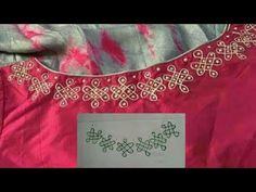 beautiful rangoli design for saree blouses and dresses without any stiching I liquid embroidery I Cutwork Blouse Designs, Patch Work Blouse Designs, Kutch Work Designs, Kids Blouse Designs, Simple Blouse Designs, Hand Work Design, Hand Work Blouse Design, Beautiful Rangoli Designs, Kolam Designs
