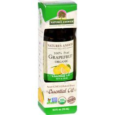 Natures Answer Essential Oil - Organic - Grapefruit - .5 Oz