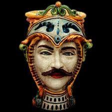 Testa Paladino in ceramica www.ceramicheripullo.com Ceramiche Ripullo
