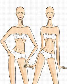 5 poses de figurín de moda en 1