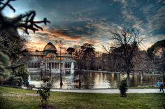 Palacio de Cristal located in Madrid's Buen Retiro Park, Madrid, Spain.
