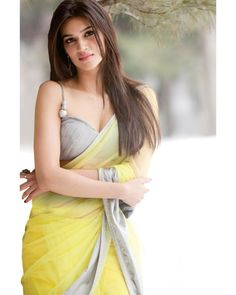 Radha's (Indian Ethnicity): Hot look in lemon yellow saree