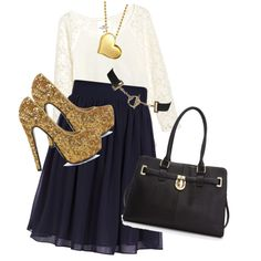 Just love the color combo. Color Combos, Navy, Polyvore, Image, Fashion, Hale Navy, Moda, Color Combinations, Fashion Styles