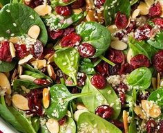 spinach from the garden, raspberries from the yard, honey goat cheese, and sweet balsamic dressing Slow Cooker Chili, Slow Cooker Recipes, Healthy Dessert Recipes, Healthy Drinks, Chili Recipes, Salad Recipes, Mediterranean Salad Recipe, Dieta Low, Cranberry Almond