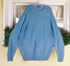 Croft Barrow Crewneck Pullover Sweater Men's XL Medium Denim Blue NWT #CroftBarrow #Crewneck