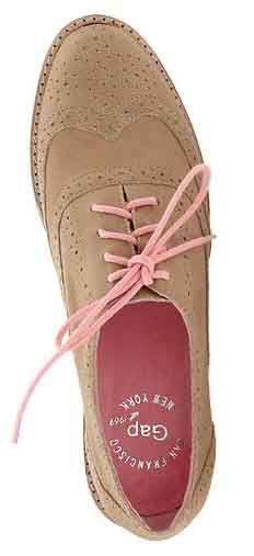 Gap Oxfords -- brown with pink laces - Used to have these shoes