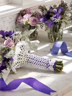 A lot of brides spend months deciding on the perfect flowers but ignore their unruly stems. Make sure your whole arrangement looks flawless by working up the How to Wrap a Bouquet Crochet Pattern.